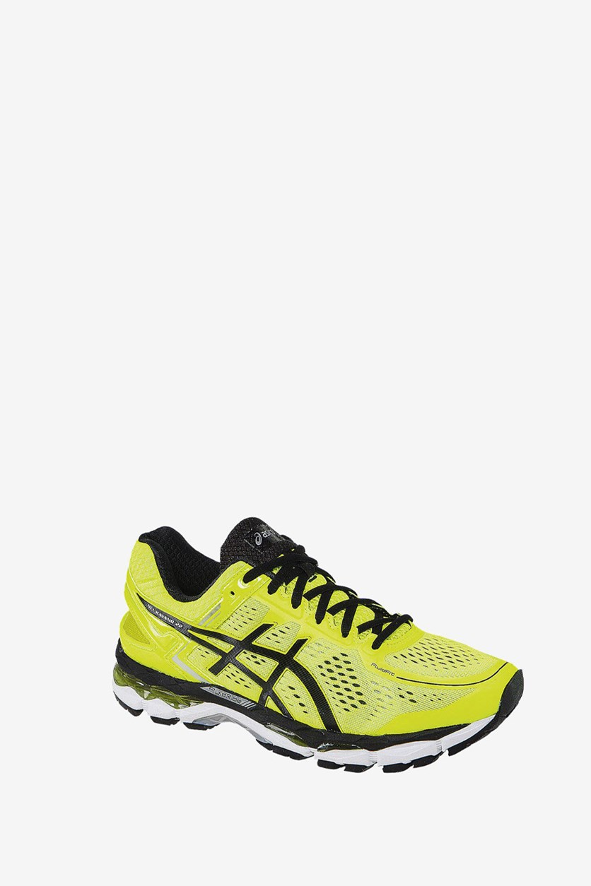 Men's Gel Kayano 22 Running Shoes, Lime Green/Black/Silver