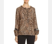Beltaine Women's Floral Print Bell Sleeves Peasant Top, Spice