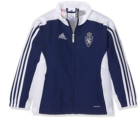 Adidas Boy's Real Zaragoza FC Jacket, Blue