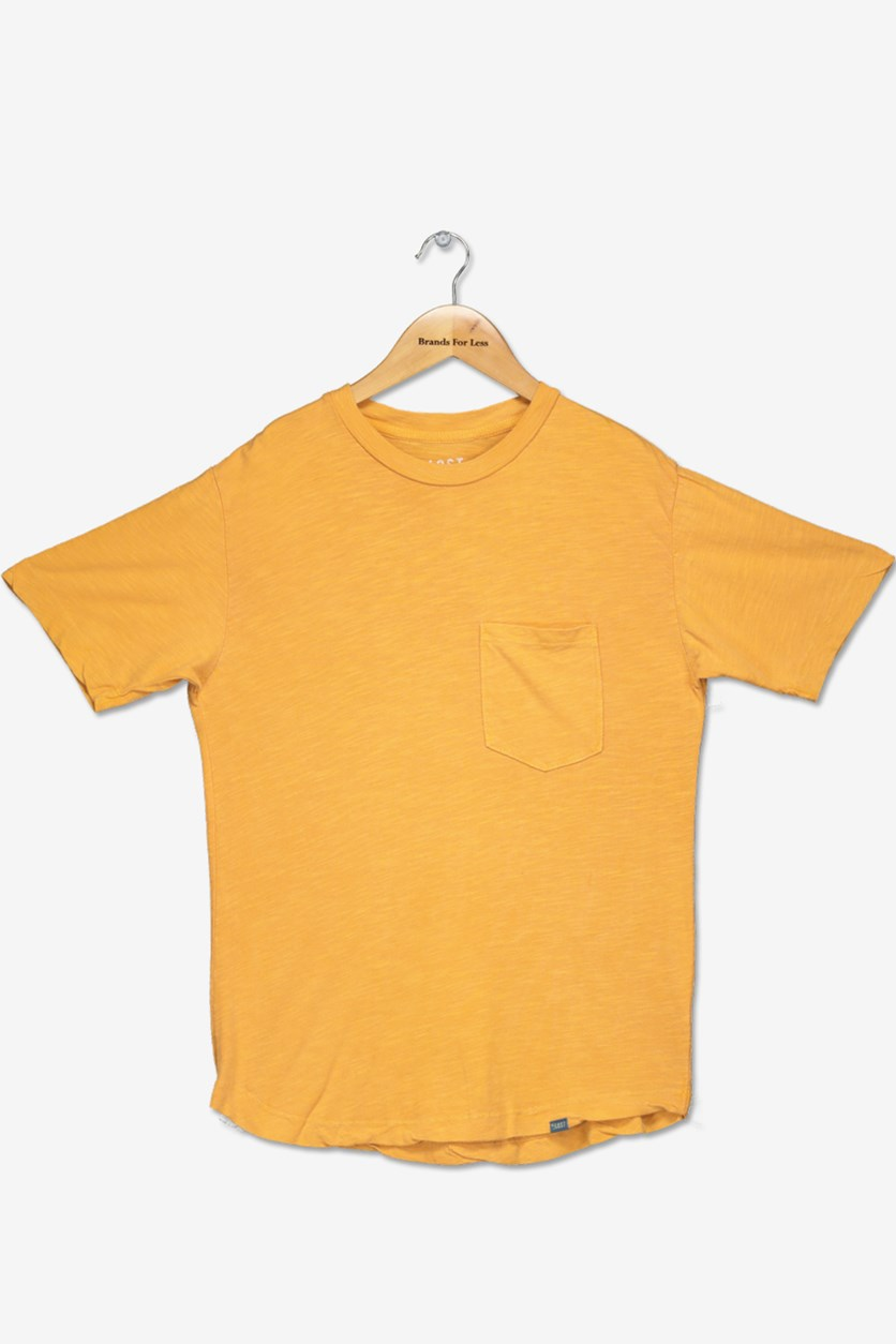Big Boy's Chest Pocket Tee, Gold