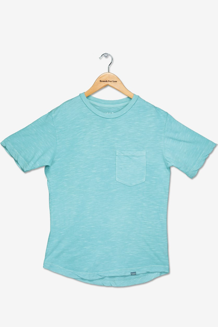 Big Boy's Chest Pocket Tee, Sea