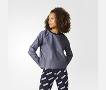 Women's Sweatshirt, Grey/Navy