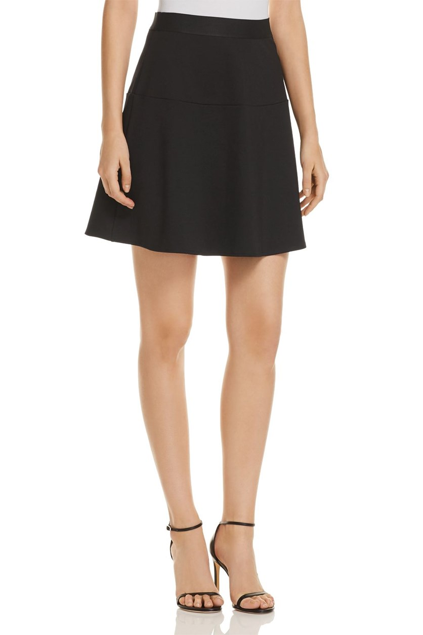 Women's Pull on Mini a-Line Skirt, Black