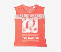 Toddler Girl's Graphic Tee, Coral