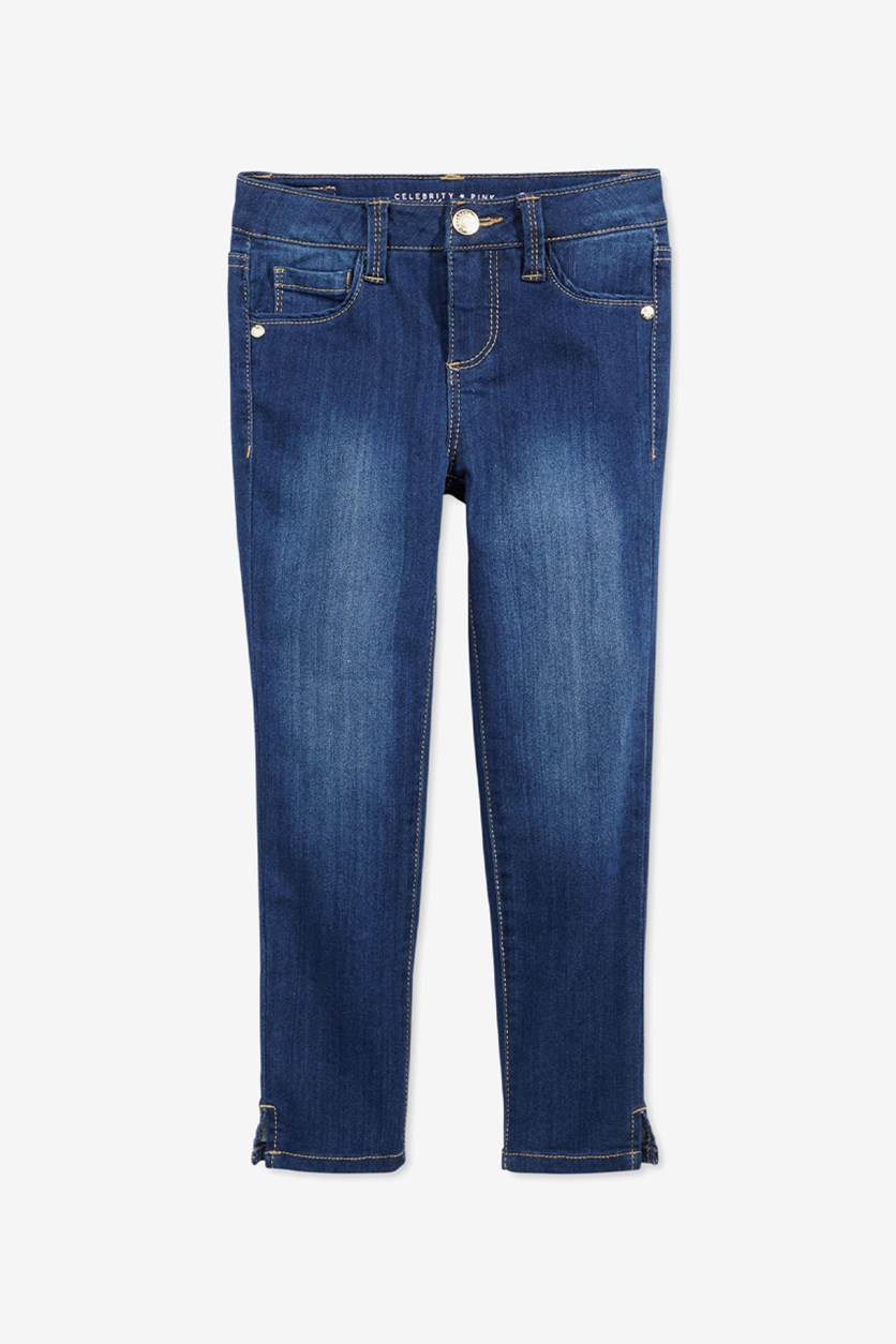 Girls Super Soft Denim Jeans, Deep Blue Sea