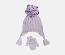 Love 2 Design Girls 2-Pc. Sequinned Hat & Gloves, Purple