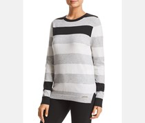 Donna Karan Women's Wool Blend Striped Long Sleeve Sweater, Stripe