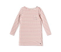 Roxy Girl's Spin With Me Striped Dress, Rose/Tan
