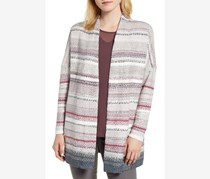 Nic+Zoe Women's Sunset Stripe Cardigan, Gray Combo