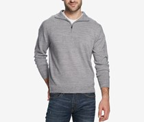 Weatherproof Mens Soft Touch Pullover Sweater, Grey Marl