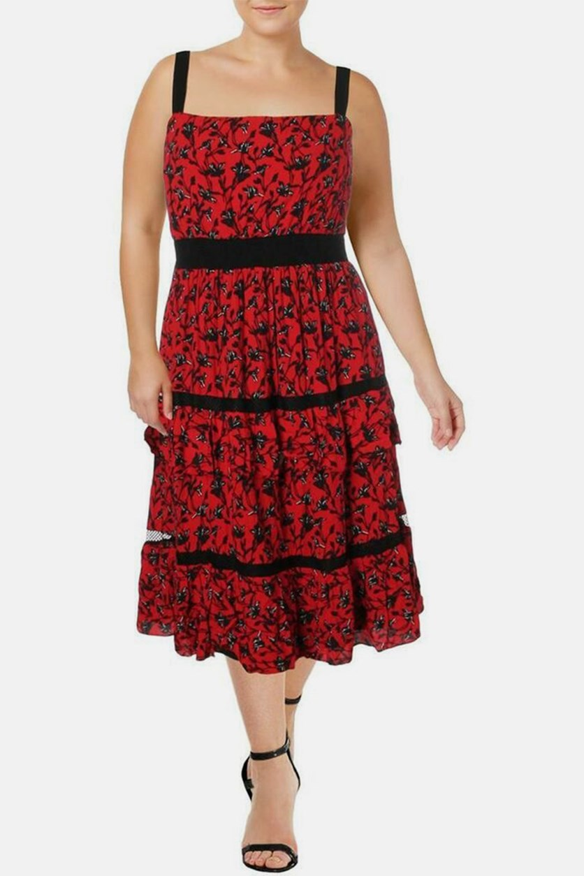 Women's Isabel Tiered Dress, Red