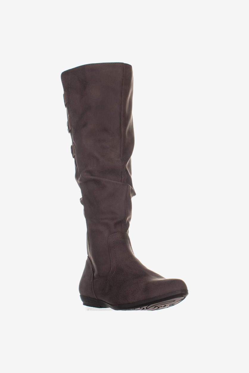 Womens Felisa Closed Toe Knee High Cold Weather Boots, Brown/Smooth