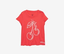 Billabong Girls' Cerise Tee, Red