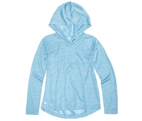 Ideology Girl's Heathered Pullover Hoodie, Blue