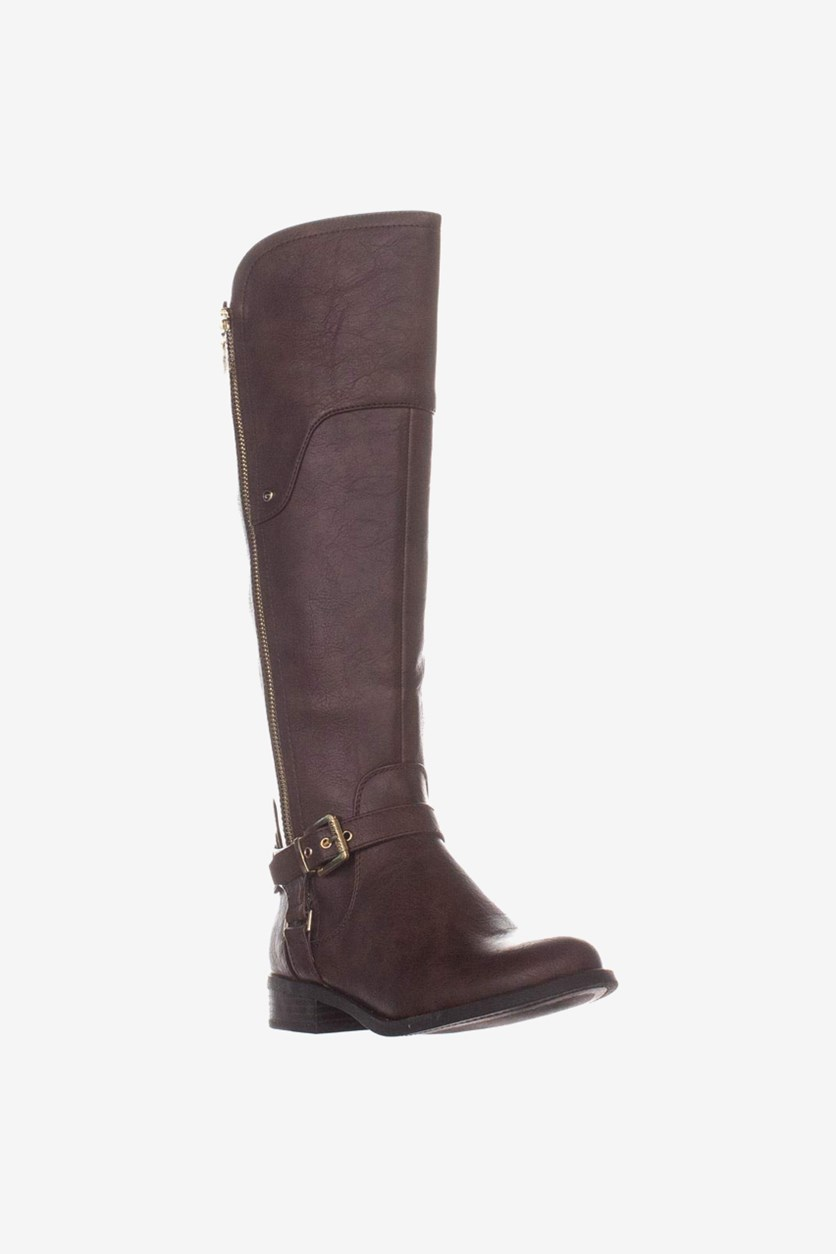Women's Harson Wide Calf Knee High Boots, Dark Brown