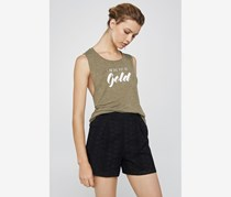 BCBGeneration Women's Pot Of Gold Muscle Tank, Olive