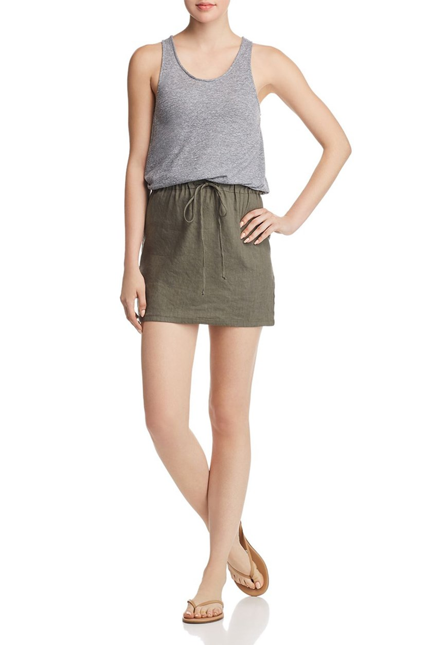 Women's Mini Heathered Tank Dress, Ever Green