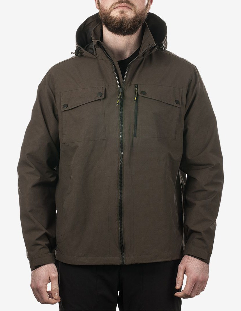 . Outfitter Men's Hooded Field Jacket, Dark Green