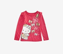 Toddler Girls Bow-Print T-Shirts, Rocker Red