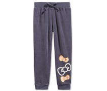 Hello Kitty Girl's Velour Jogger Pant, Dark Blue
