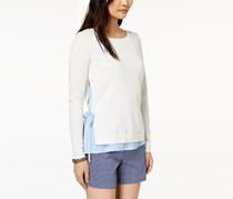 Tommy Hilfiger Women's Cotton Layered-Look Sweater, White