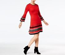 Jessica Howard Women's Bell-Sleeve Sweater Dress, Red
