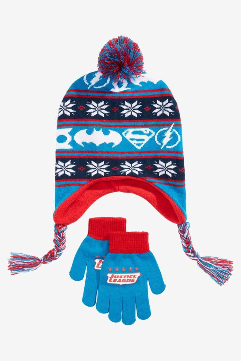 Little & Big Boys 2-Pc. Hat & Gloves Set, Blue/Red