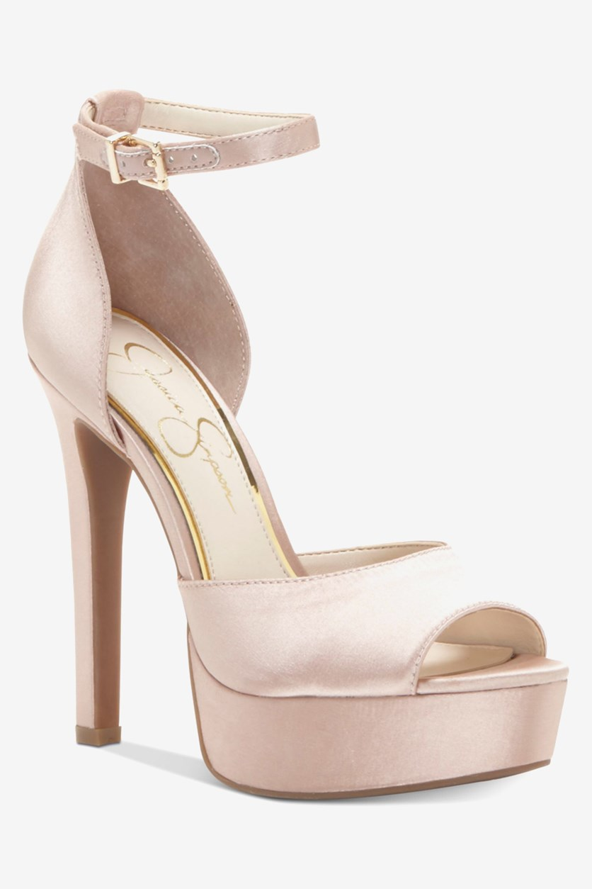 Beeya Two-Piece Platform Sandas, Nude Blush