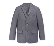 Calvin Klein Boy's Fine Line Twill Jacket, Dark Charcoal
