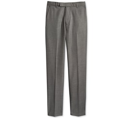 Calvin Klein Boys' Husky Mini Birdseye Pants, Grey