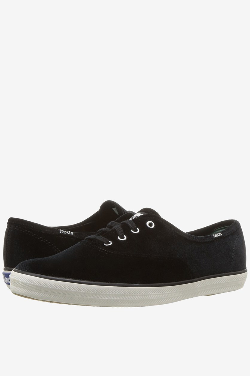 Women's Keds Champion Velvet Sneaker, Black