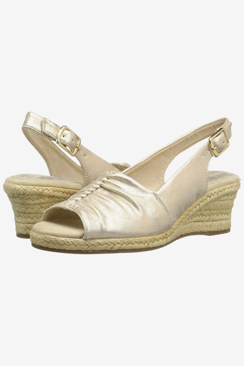 Kindly Sandals, Gold Metallic
