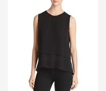 Kobi Halperin Women's Kara Sleeveless  Layered Silk Blouse, Black