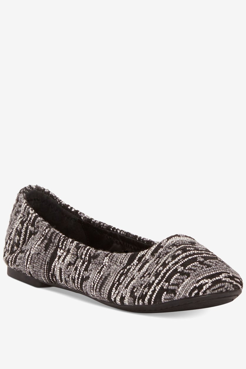 Women's Emmie Flats, Black Kirate