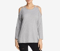 Michelle by Comune Women's Cold-Shoulder Top, Gray