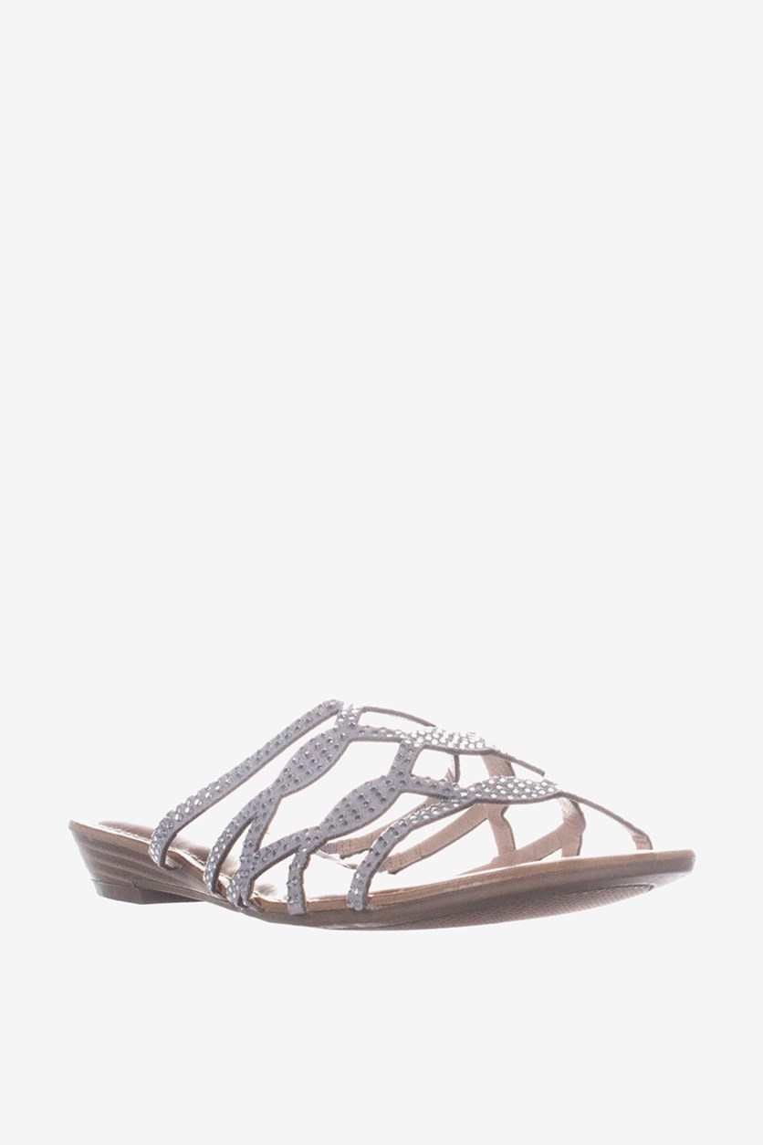 Women's Meera Slide Sandals, Silver/Grey