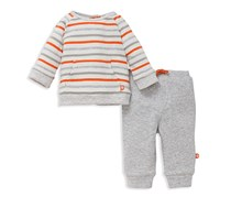 Offspring Boys' Stripe Sweatshirt & Joggers Set, Grey/White