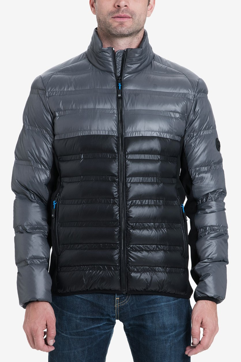 Men's Hartwich Colorblocked Quilted Down Jacket, Gunmetal
