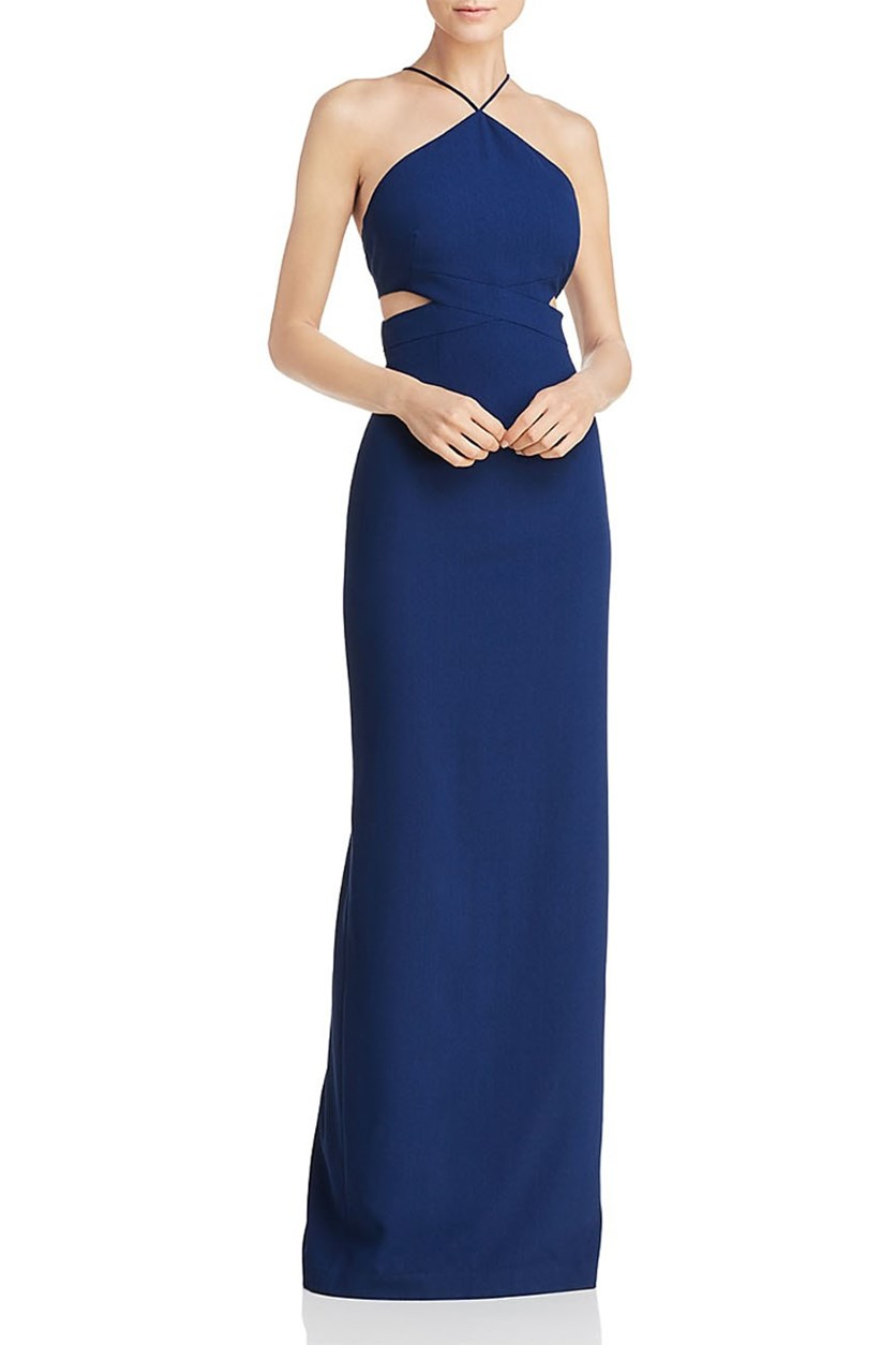 Womens Formal Evening Dress, Navy