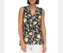 Women's Lily Pleat Back Top, Yellow/Black Combo