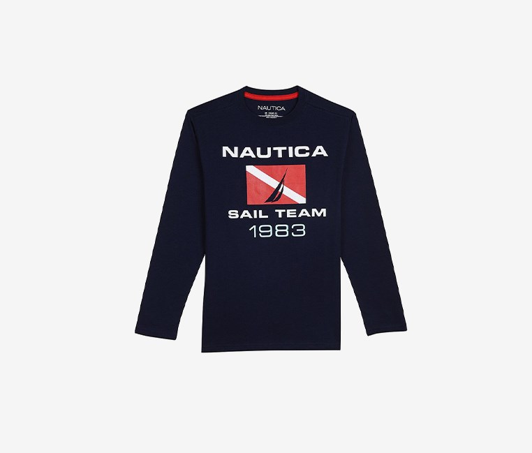 Toddler Boys' ' Sail Team' Long-Sleeve Tee, Sport Navy
