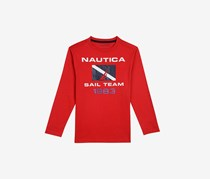 Little Boys' ' Sail Team' Long-Sleeve Tee, Carmine