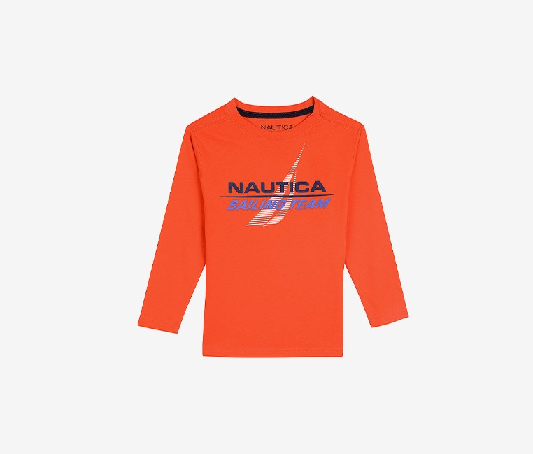 Little Boys ' Sailing Team' Cristiano Long-Sleeve Tee, Orange