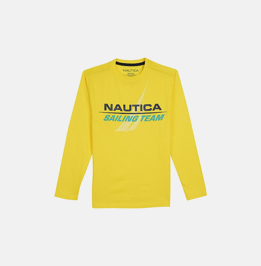 Toddler Boys' 'Sailing Team' Cristiano Long Sleeve Tee, Yellow