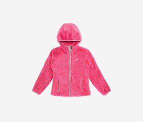 Big Girls Faux-Shearling Hooded Jacket, Pink