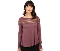 Free People Women's Roxie T-Shirt, Purple