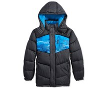 Cb Sports Boys' Colorblocked Puffer Jacket, Blue/Navy