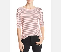 Three Dots Women's Hyannis Striped Top, Red
