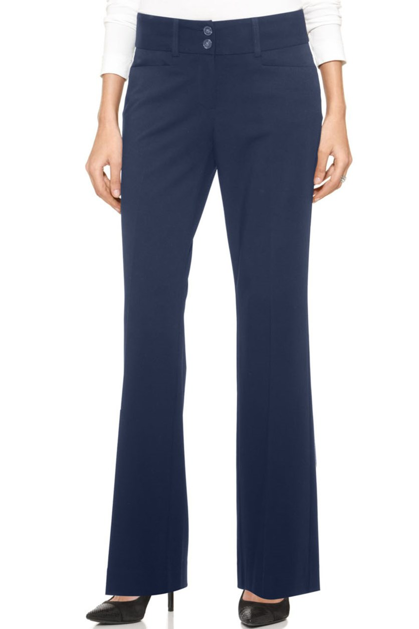 Curvy-Fit Slimming Bootcut Pants, Navy