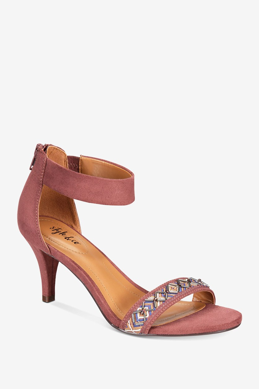 . Paycee Two-Piece Dress Sandals, Blushy